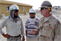 Our civilian professionals, engineers, scientists, and military personnel have the opportunity to serve their nation overseas. Here, a Charleston District employee collaborates with native Afghan at a construction site.