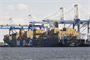 A Post-Panamax cargo vessel, the MSC Rita, docks at the Port of Charleston. Our harbor maintenance efforts and collaboration with the S.C. Ports Authority has allowed Charleston to become the fourth-busiest port container traffic on the east coast. Safe passage of these ships would not be possible without the work of The Charleston District.